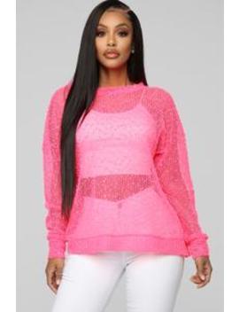 Attention Seeker Top   Neon Pink by Fashion Nova