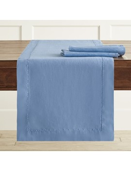 Italian Washed Linen Table Runner by Williams   Sonoma