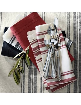 French Stripe Napkins by Williams   Sonoma