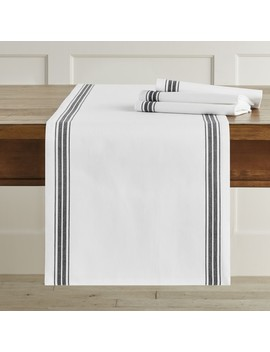 Williams Sonoma Open Kitchen Restaurant Stripe Table Runner by Williams   Sonoma
