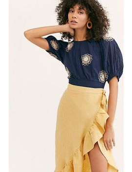 My Girl Embroidered Blouse by Free People