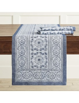 Tehla Jacquard Table Runner by Williams   Sonoma