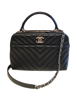 Leather Bowling Bag by Chanel