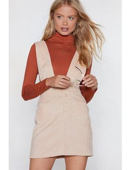 Over The Top Corduroy Pinafore Dress by Nasty Gal