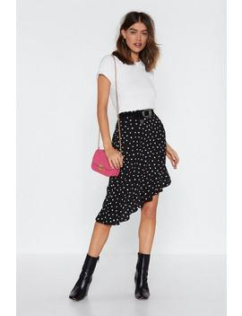 Heart To Heart Ruffle Midi Skirt by Nasty Gal