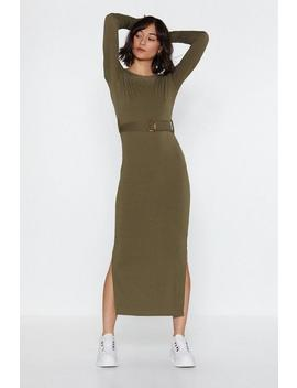 Ribbed And Ready Midi Dress by Nasty Gal