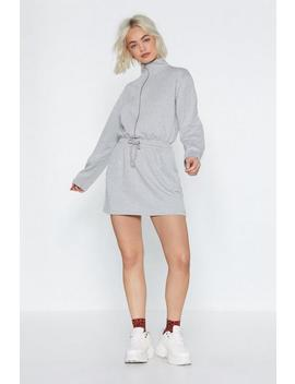 Zip 'em Into Shape Sweater Dress by Nasty Gal