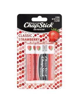 Chap Stick Skin Protectant Lip Balm, Classic Strawberry, 0.15 Oz, 3 Pk by Chap Stick