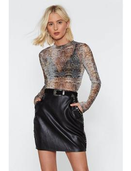 Stud Muffin Faux Leather Skirt by Nasty Gal