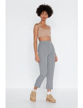 Ready To Turn Up Check Pants by Nasty Gal