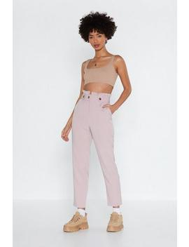 Bag It Tapered Pants by Nasty Gal