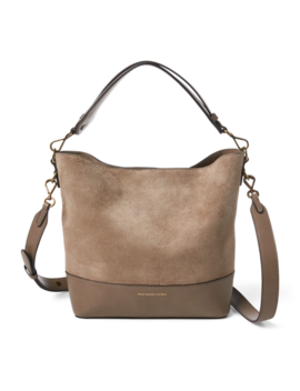 Small Suede Leather Hobo Bag by Ralph Lauren