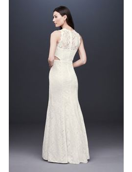Corded Lace Trumpet Dress With Illusion Sides by Db Studio