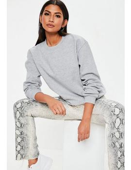 Grey Basic Sweatshirt by Missguided
