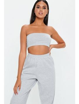 Tall Grey Basic Bandeau Top by Missguided
