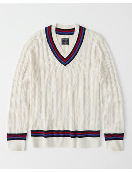 Cricket V Neck Sweater by Abercrombie & Fitch