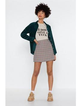 Check For Me Mini Skirt by Nasty Gal
