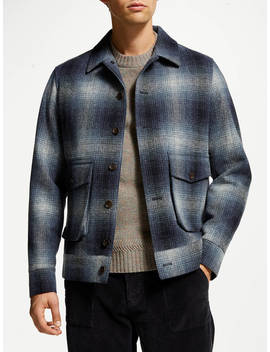 John Lewis & Co. Moons British Wool Check Lumber Jacket, Blue by John Lewis & Co.