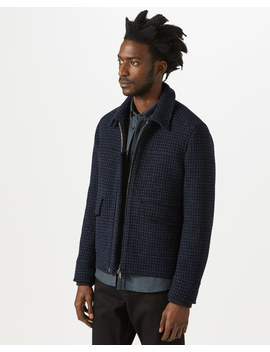 Houndstooth Bomber Jacket by Jigsaw
