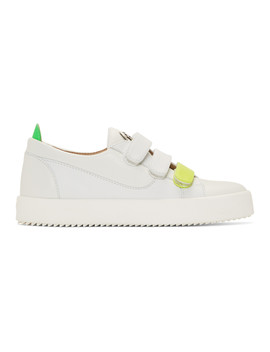 White Triple Strap May London Sneakers by Giuseppe Zanotti