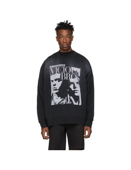 Black 'vicious Bros' Sweatshirt by Dsquared2