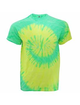 Tduk Mens Short Sleeve Rainbow Tie Dye T Shirt by Tie Dyed