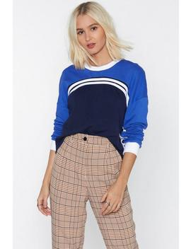Don't Sweat The Small Stuff Striped Sweatshirt by Nasty Gal