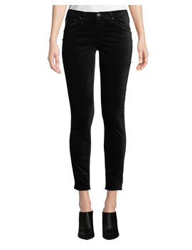 The Legging Velvet Ankle Skinny Pants by Ag Adriano Goldschmied