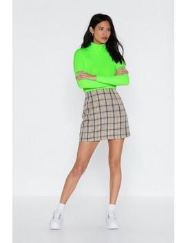 Check In Sometime Mini Skirt by Nasty Gal