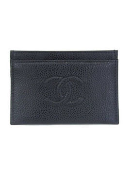 Auth Chanel Caviar Leather Card Case Black by Ebay Seller