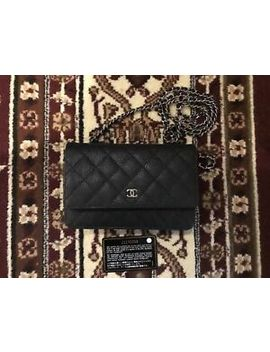 Authentic 2016 Chanel Black Wallet On Chain Woc Crossbody Messenger Clutch Bag by Chanel