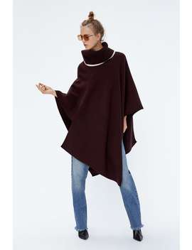 Roll Neck Cape  Knitwearwoman Sale by Zara