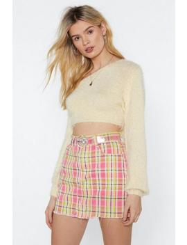 Brush It Aside Cropped Sweater by Nasty Gal