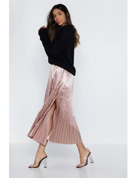 The Pleat Is On Satin Skirt by Nasty Gal