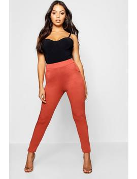 Petite Two Pocket Slim Leg Pocket Trousers by Boohoo