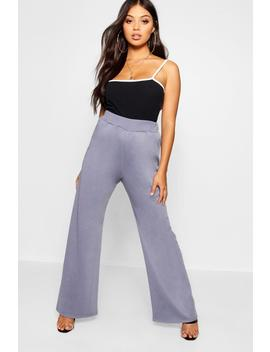 Petite Wide Leg Tie Waisted Detail Jogger by Boohoo