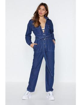 All Boilers Down To This Denim Jumpsuit by Nasty Gal