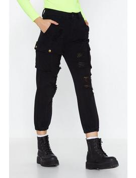 Cargo For It Distressed Pants by Nasty Gal