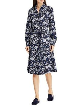 Printed Crepe Shirtdress by Lauren Ralph Lauren