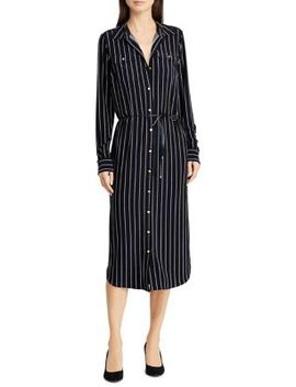 Striped Jersey Shirtdress by Lauren Ralph Lauren