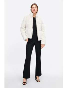 Cazadora Efecto Pelo  Chaquetasmujer New Collection by Zara