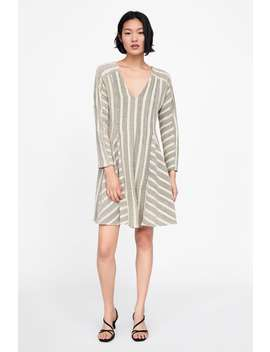 Two  Tone Stripe Dresskleider Damen New Collection by Zara