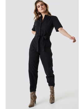Short Sleeve Button Up Jumpsuit by Na Kd