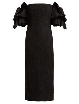 Tiered Sleeve Cloqué Dress by Alexachung
