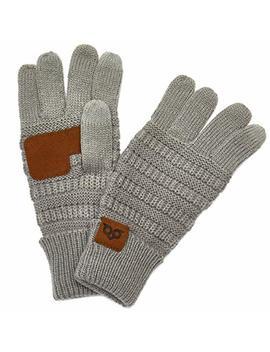 Yoowl Gloves Women Men Touchscreen Gloves Texting Warm Winter Knitted Full Finger Mittens Anti Slip Unisex Gloves by Yoowl