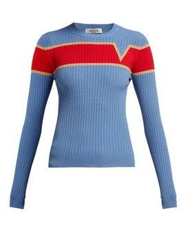 Logo Intarsia Ribbed Knit Sweater by Valentino