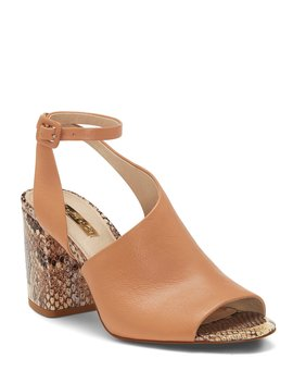 Kyvie Snake Print Ankle Block Heel Strap Dress Sandals by Louise Et Cie