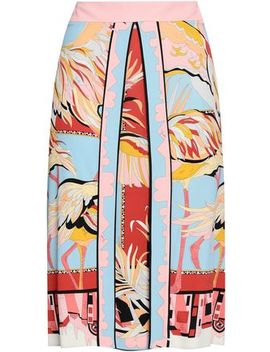 Printed Jersey Skirt by Emilio Pucci