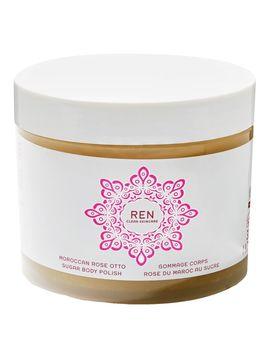 Moroccan Rose Otto Sugar Body Polish by Ren Clean Skincare