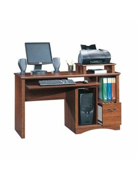 "Sauder 101730 Camden County Computer Desk, L: 53.54"" X W: 20.28"" X H: 34.57, Planked Cherry by Sauder"